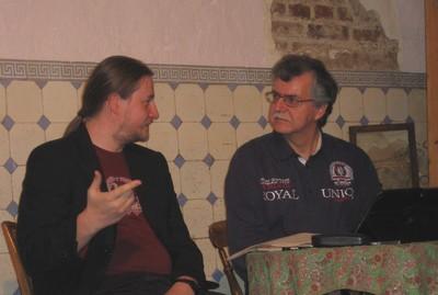 Robert Corvus und Norbert Mertens bei der PERRY-Lesung im Duddel, 10. Oktober 2015
